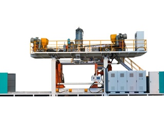 Double Ring Chemical Tank Blow Molding Machine